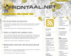 Frontaal.net layout 2009